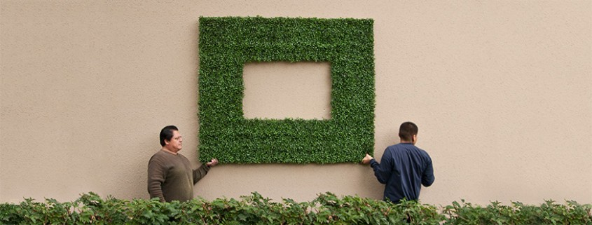 This foliage isn't just for Artificial Boxwood Hedges - these outdoor frames can improve your business too.