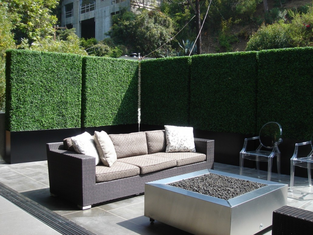 Balcony Privacy Hedges in LA