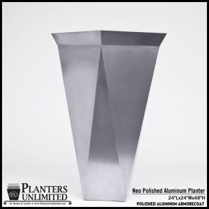 Neo Polished Aluminum Planter