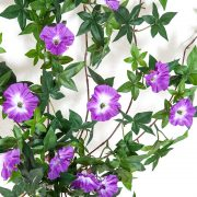 Outdoor Artificial Morning Glory Vine - Purple Flowers