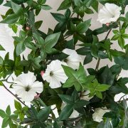 Outdoor Artificial Morning Glory Vine - White Flowers