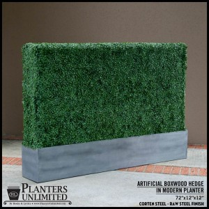 Raw Corten Steel Planter