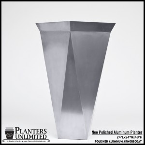 Neo Polished Aluminum Planter