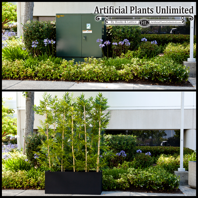 learn the benefits of combining outdoor artificial plants and live plants