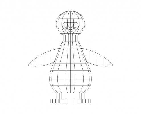 Custom Artificial Topiary Penguin Design