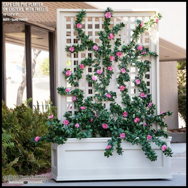 Rolling Trellis Space Divider/Privacy Screen with Artificial Azaleas | Artificial Plants Unlimited blog