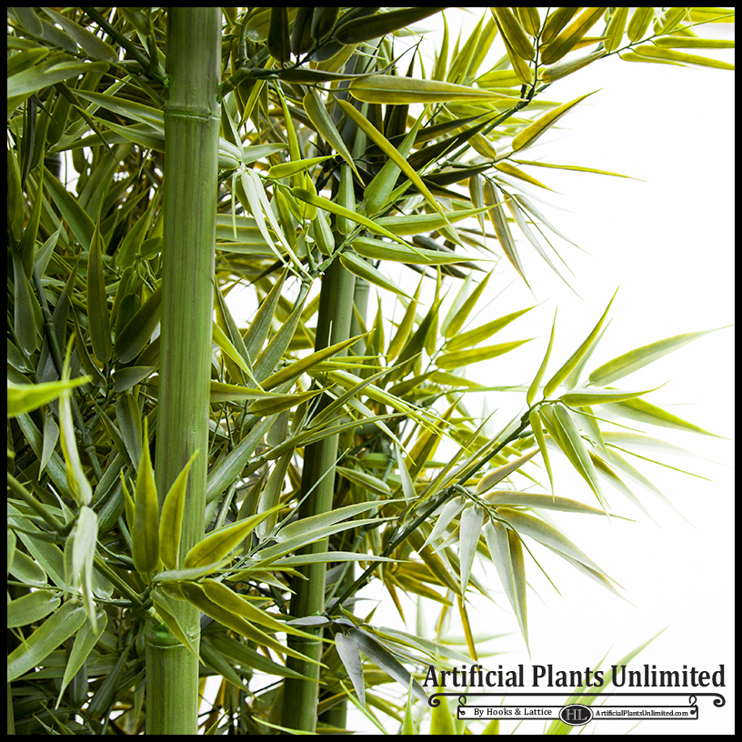 Indoor artificial bamboo - close up
