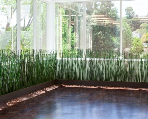 Indoor Artificial Equisetum Horsetail Reeds for Office Privacy