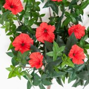 Outdoor Artificial Morning Glory Vine - Red Flowers